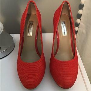 INC Orange Python Heels Size 8